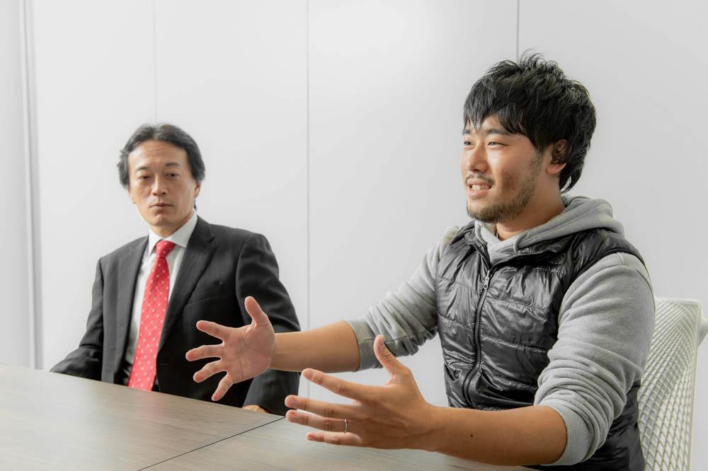 プロデューサー 有川久志と、シニアプランナー 中根将史